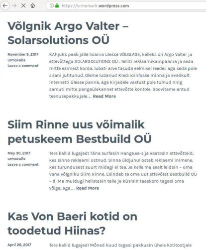 Anna Stranberg ja Urmo Mark panevad reklaamikampaania tellijad internetis häbiposti